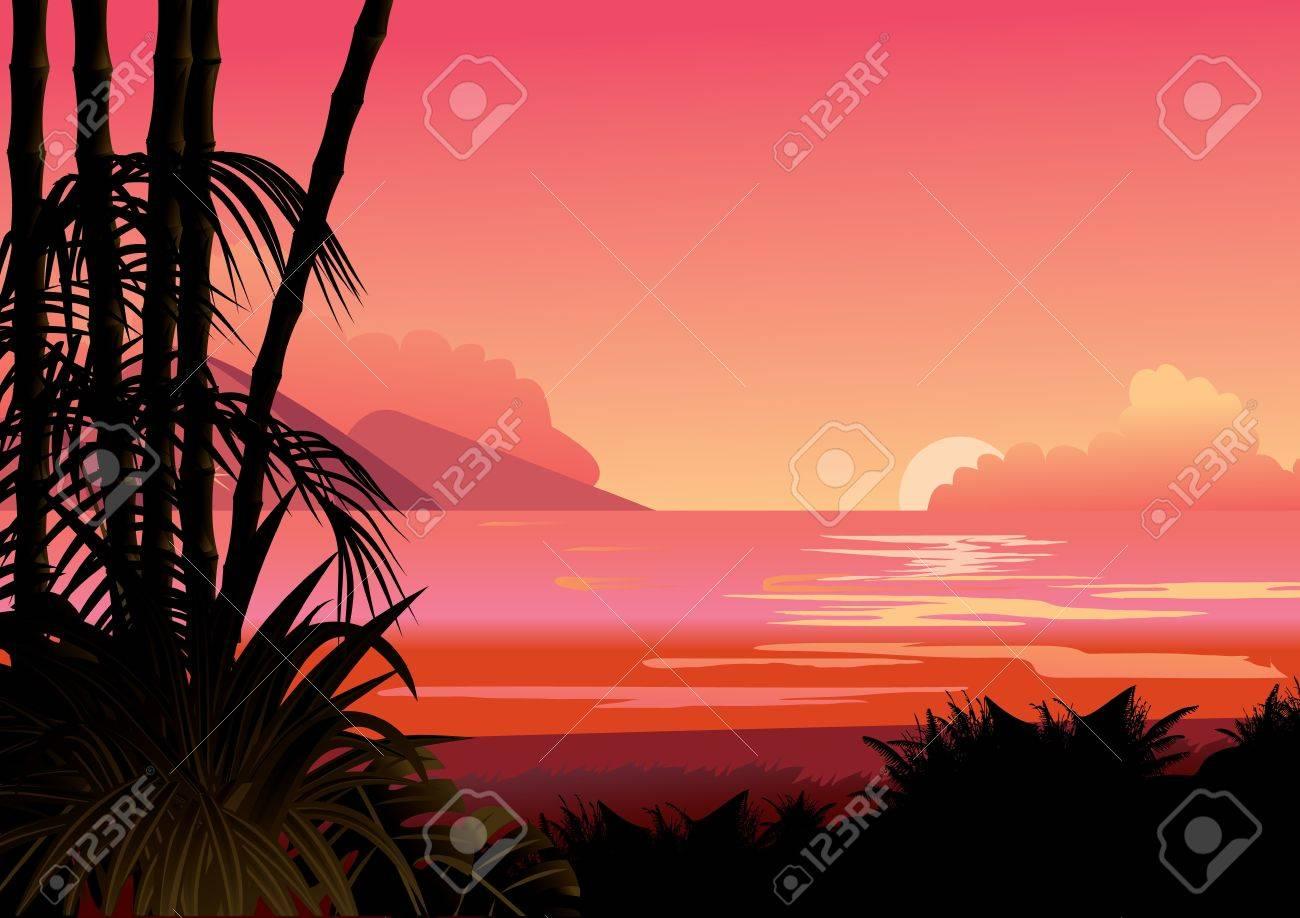 Seashore  Vector art-illustration Stock Vector - 14905449