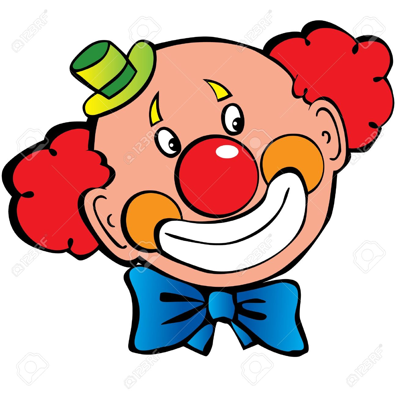 Happy clown art-illustration on a white background - 15067567