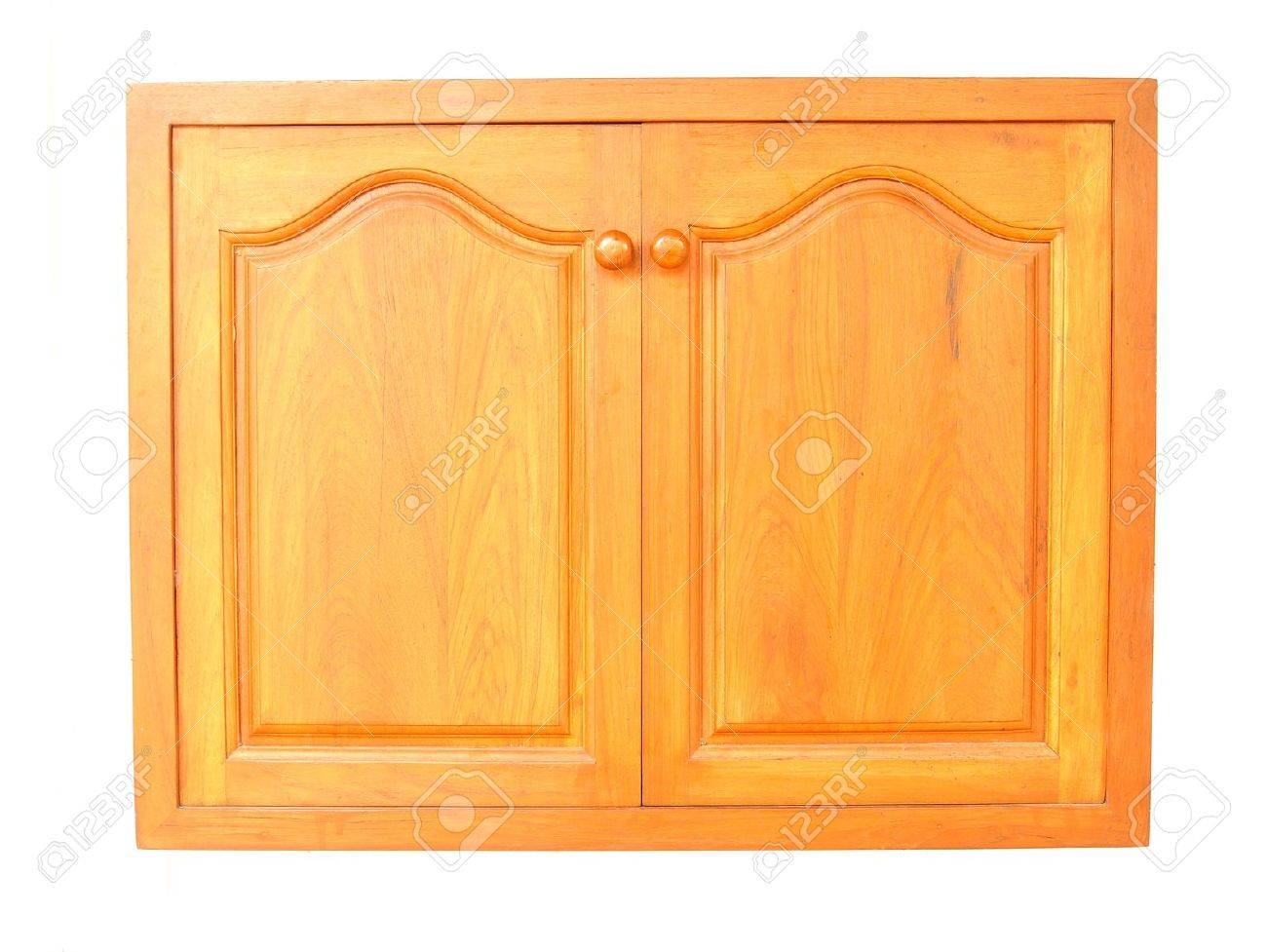 Wooden Cabinet Doors Isolated On White Background Stock Photo ...