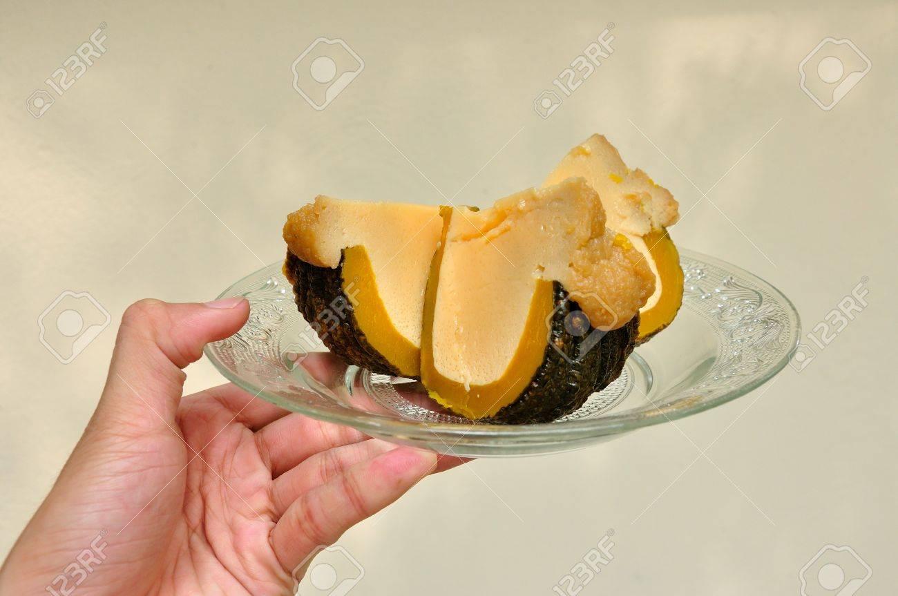 Pumpkin custard, Thai dessert Stock Photo - 13074693