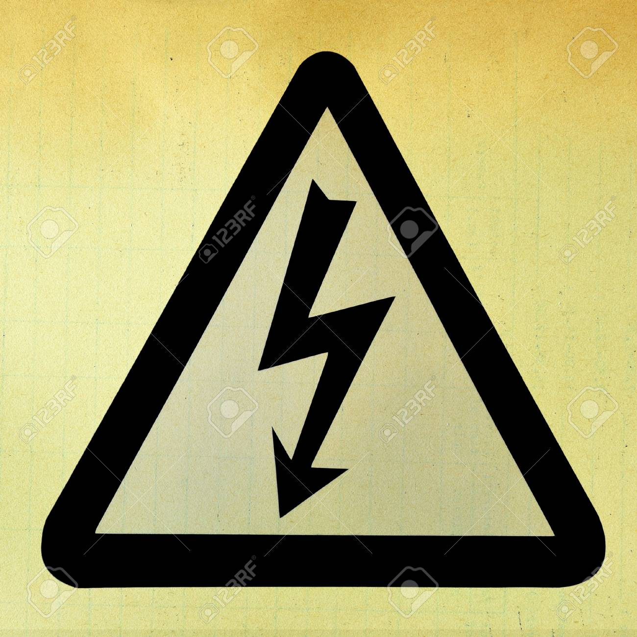High Voltage Sign in grunge style Stock Photo - 16260223