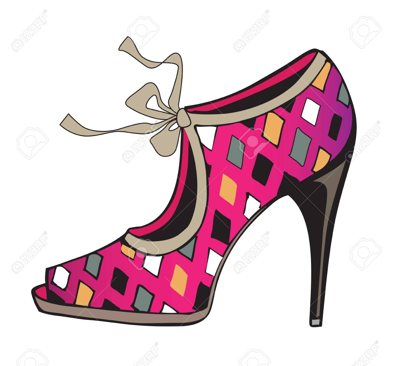 fashion shoe Stock Vector - 18685353