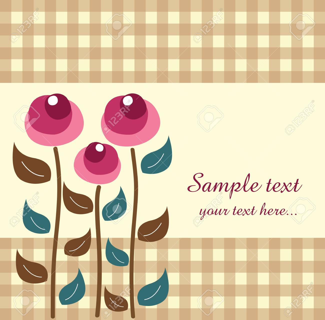 Template frame design for greeting card Stock Vector - 18726421