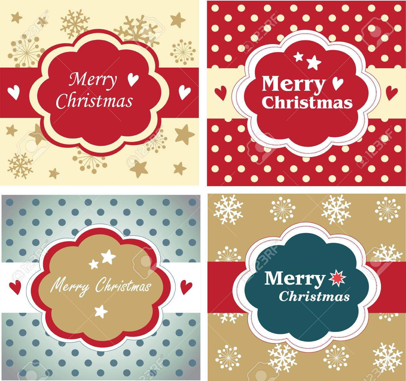 Vector set of christmas cards Stock Vector - 18760308
