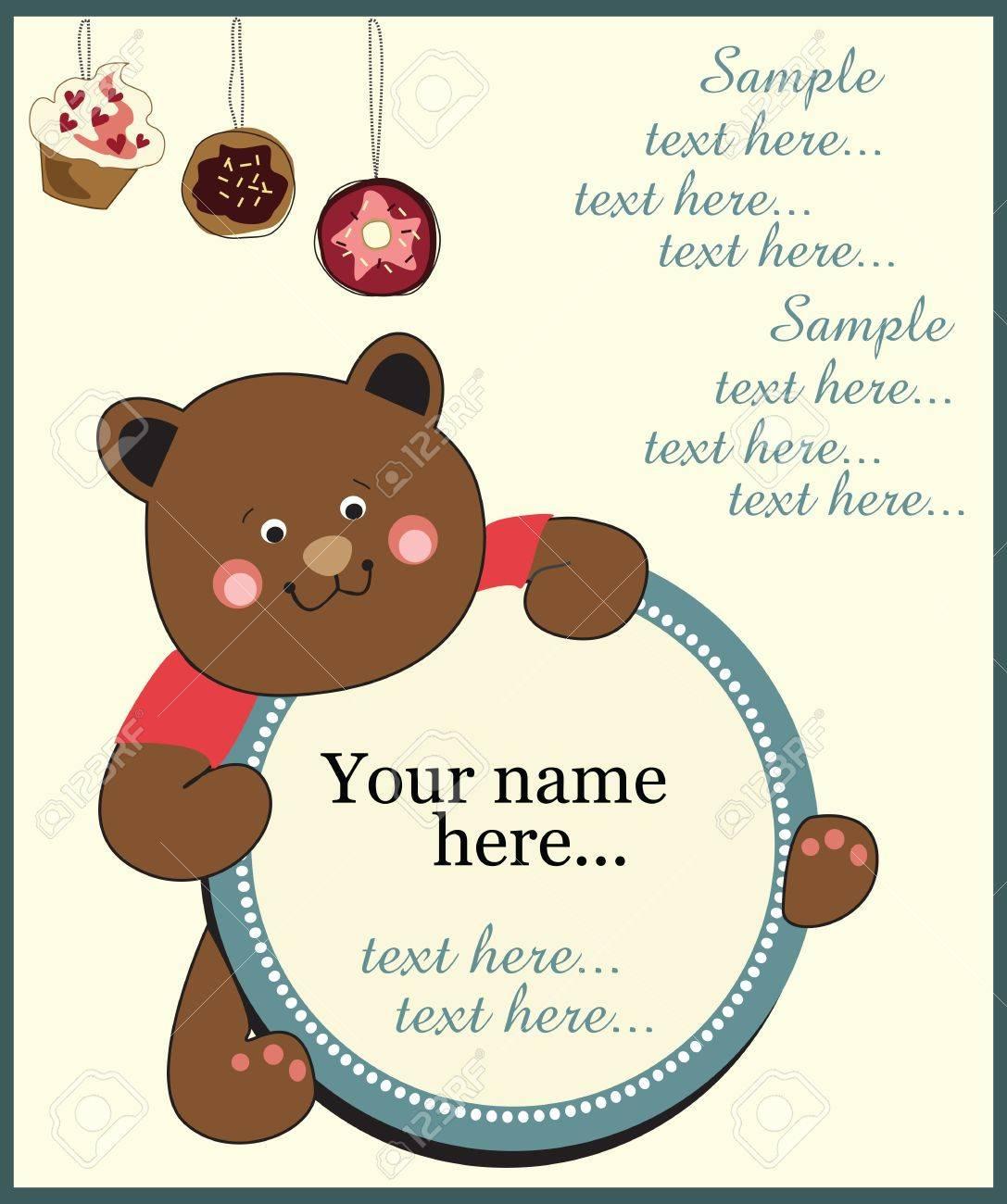 Kids Birthday Invitation Card Royalty Free Cliparts Vectors And – Children Birthday Invitation Card