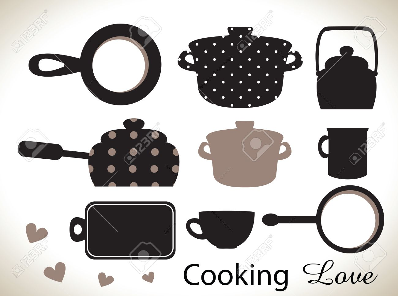 Kitchen Utensils Silhouette Vector Free kitchen utensils silhouettes royalty free cliparts, vectors, and