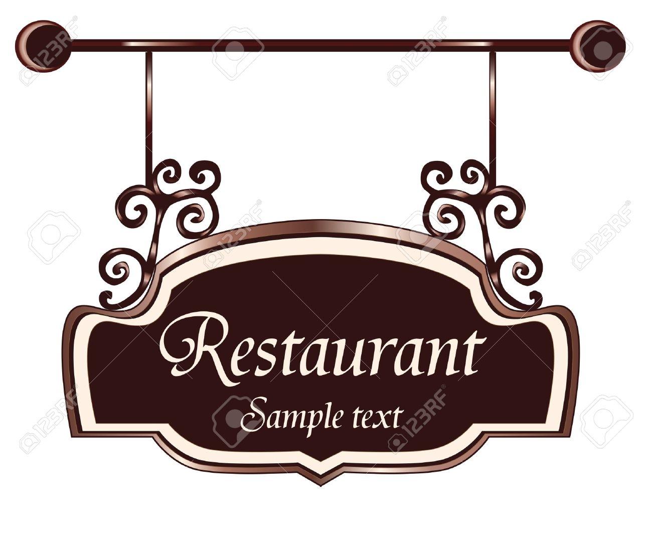 restaurant  sign Stock Vector - 19080411