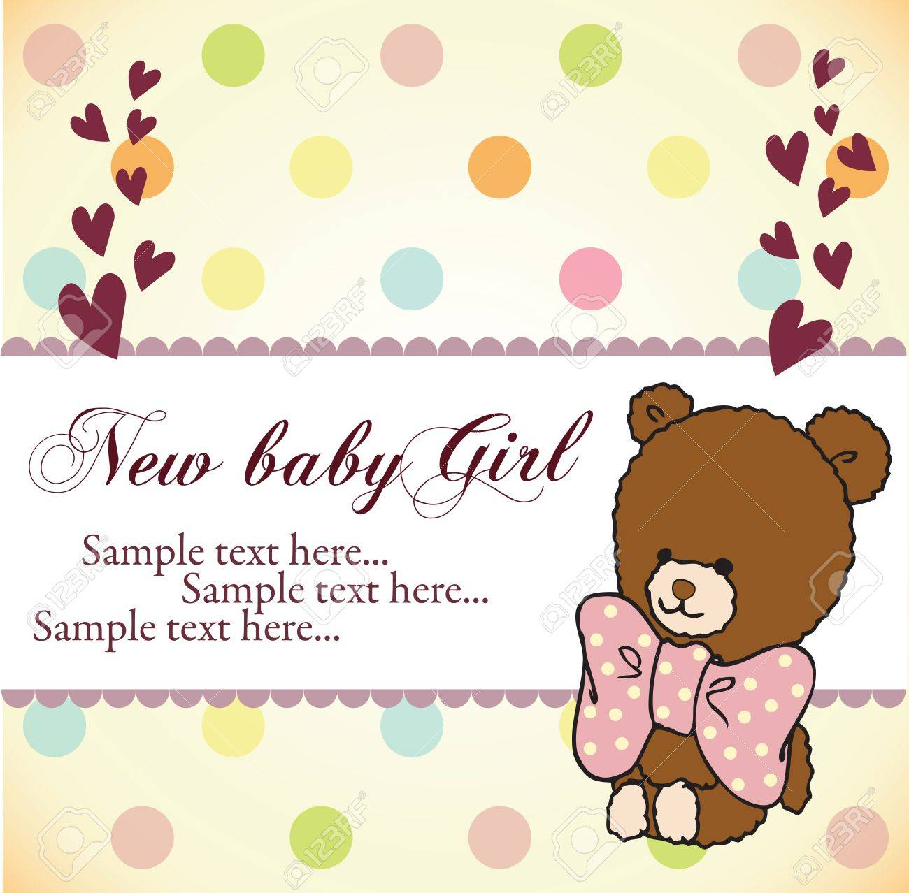 Baby Shower Invitation Card Royalty Free Cliparts, Vectors, And ...