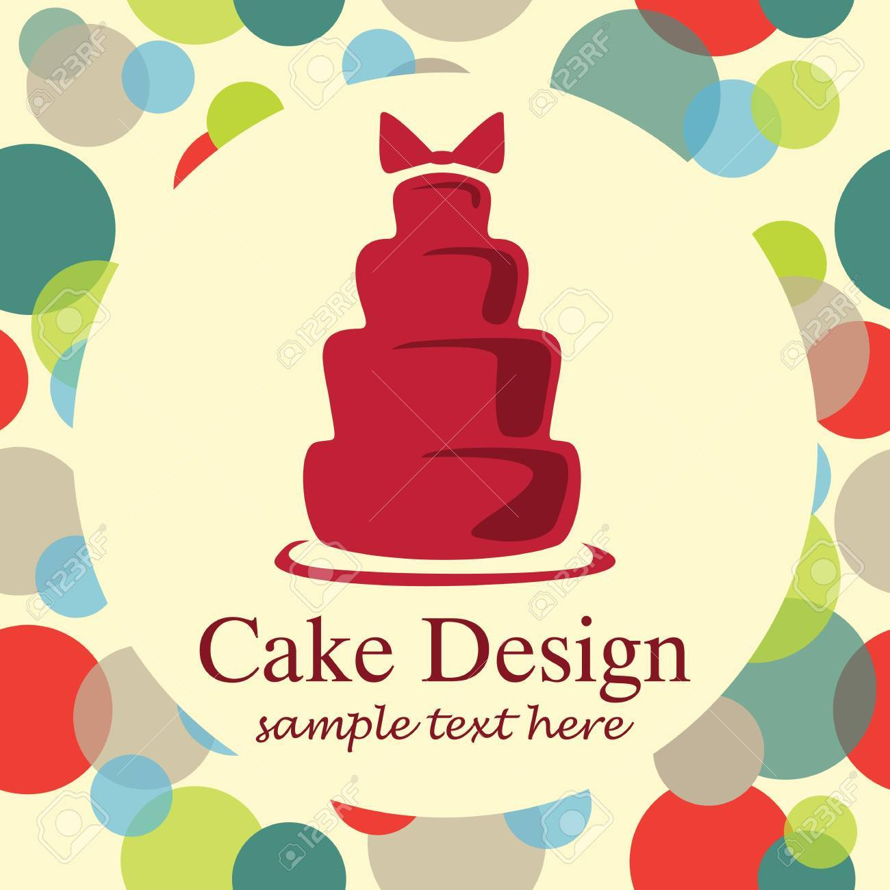 Card With Sweet Wedding Cake Royalty Free Cliparts, Vectors, And ...