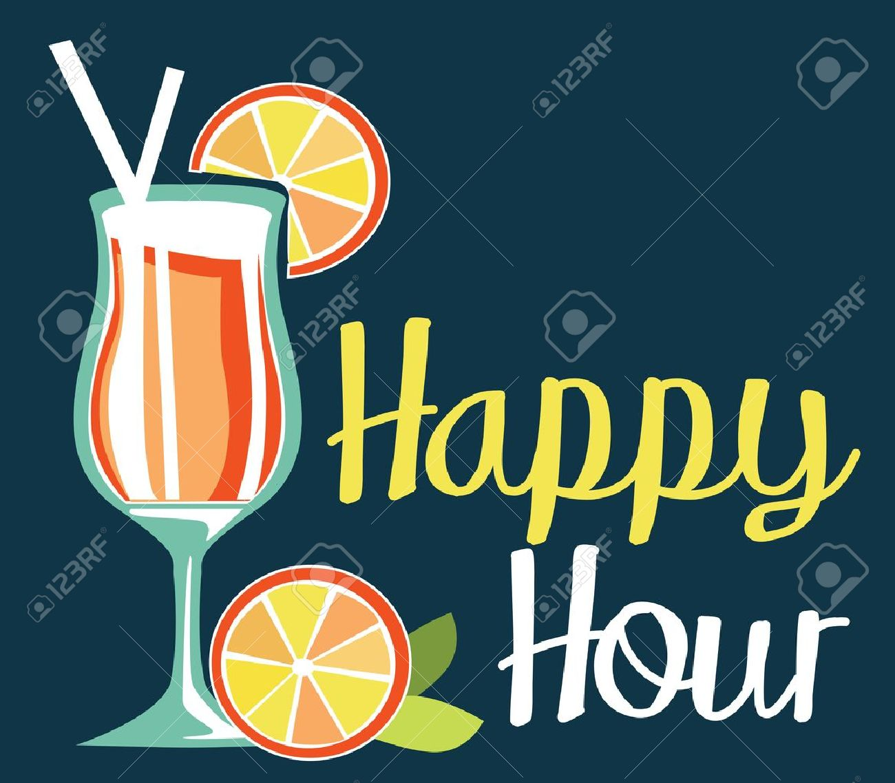 Happy Hour Royalty Free Cliparts, Vectors, And Stock Illustration ...