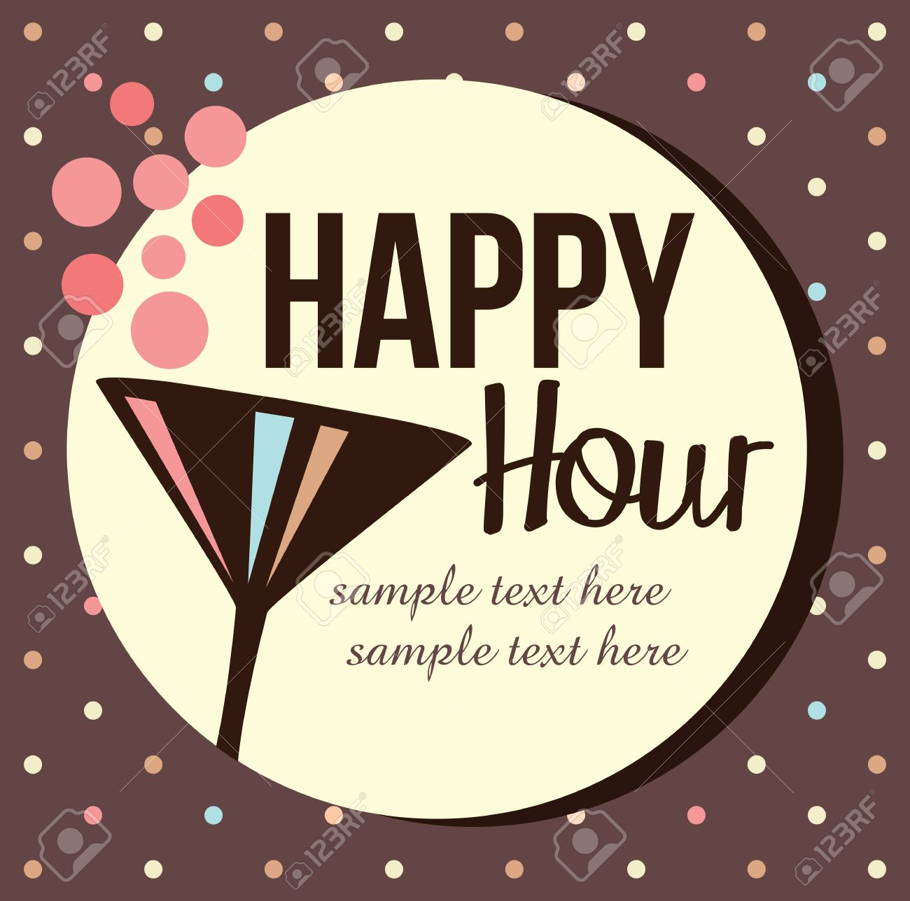 Vintage Cocktail Party Invitation Royalty Free Cliparts Vectors