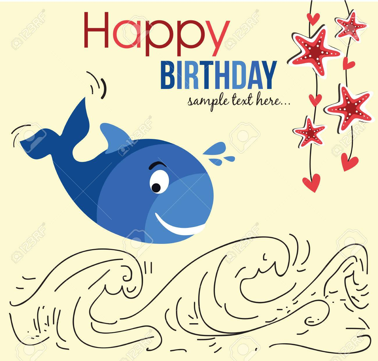 Cute Happy Birthday Card With Cute Whale Photo Picture And – Cool Happy Birthday Card
