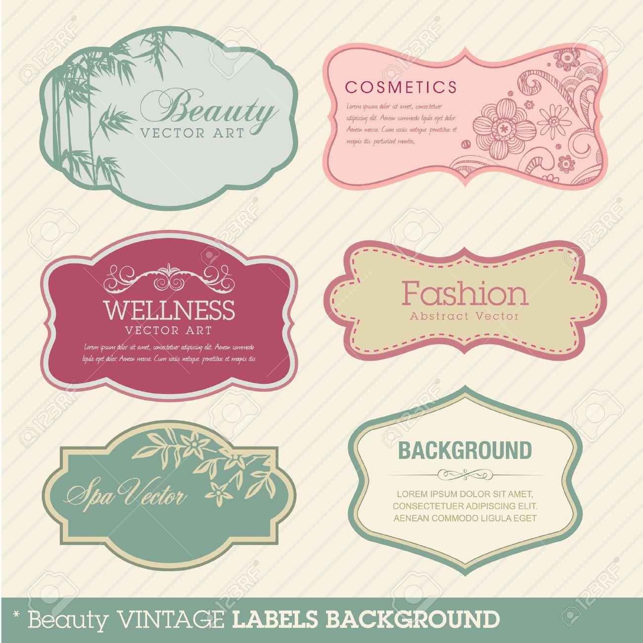 Beauty vintage labels - 10377339