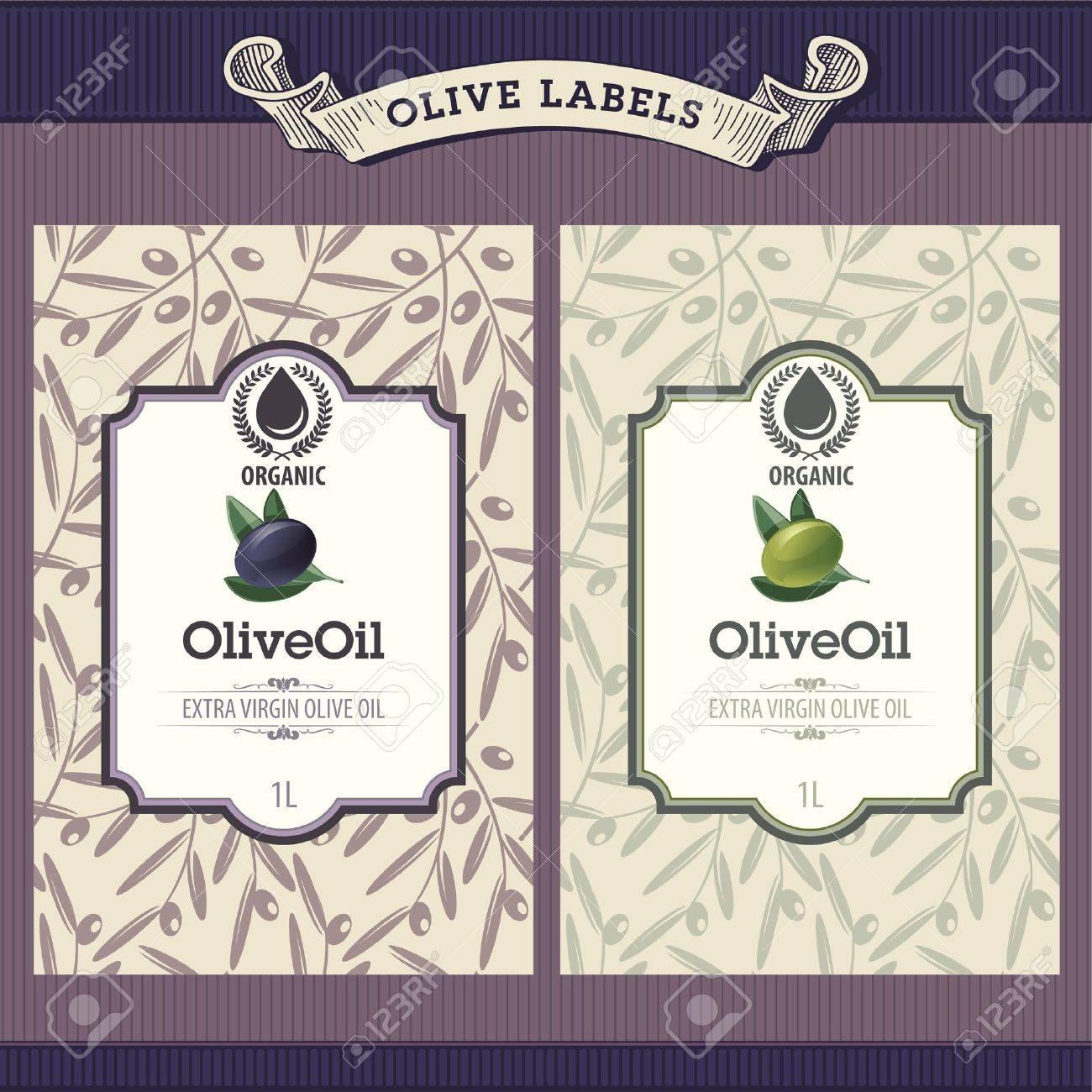 Set of olive oil labels - 10438796