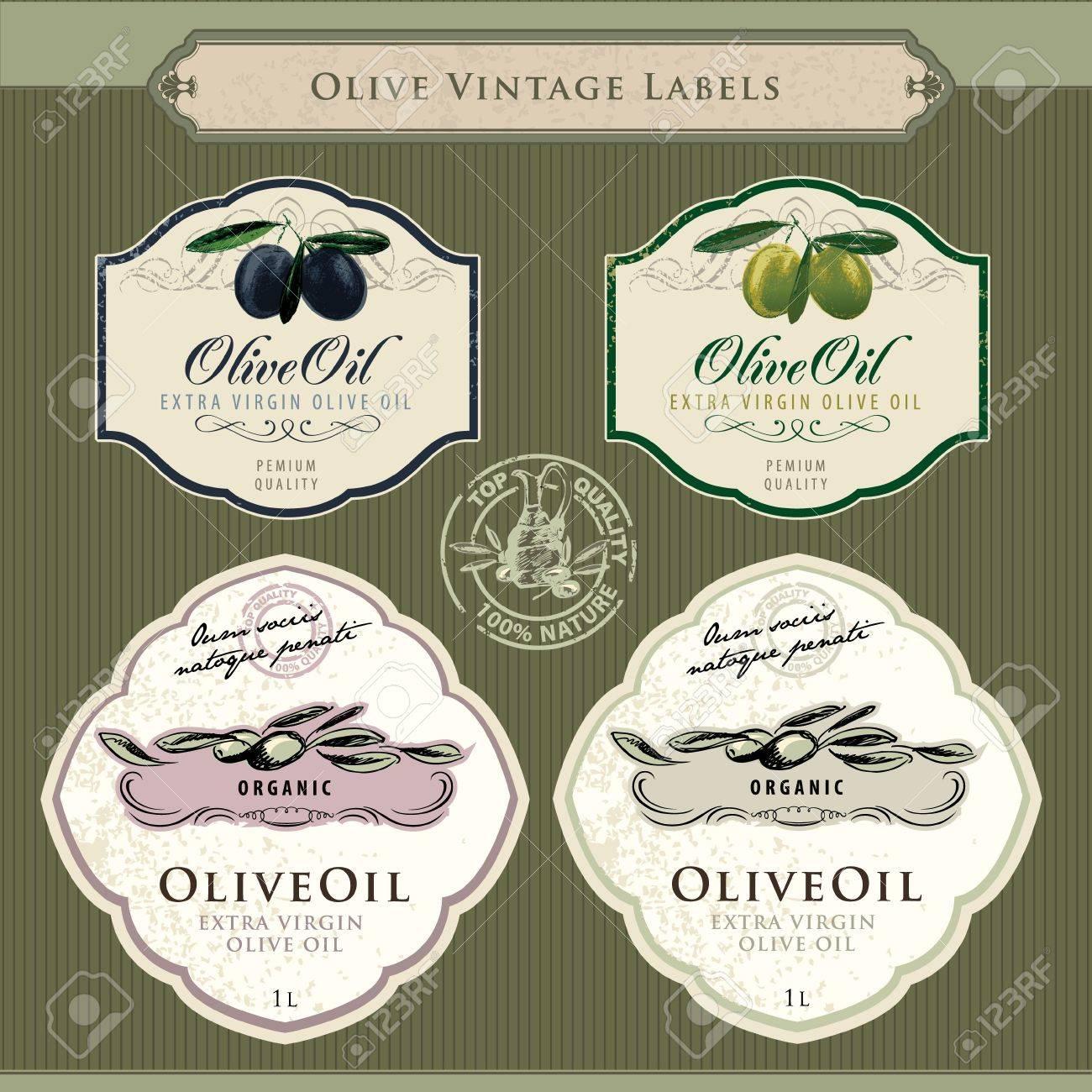 Set of olive oil labels - 10438799