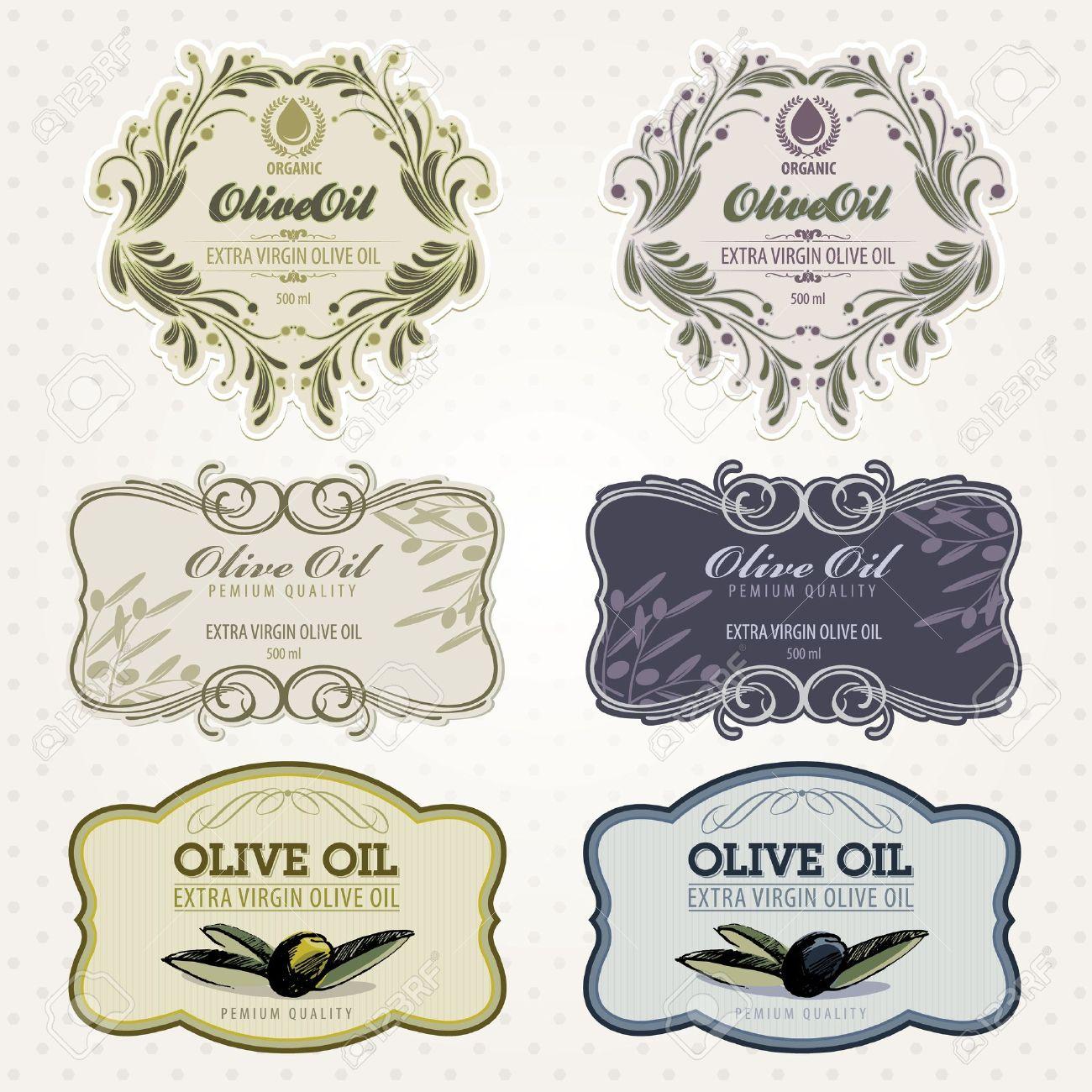 Olive oil labels set - 10438798