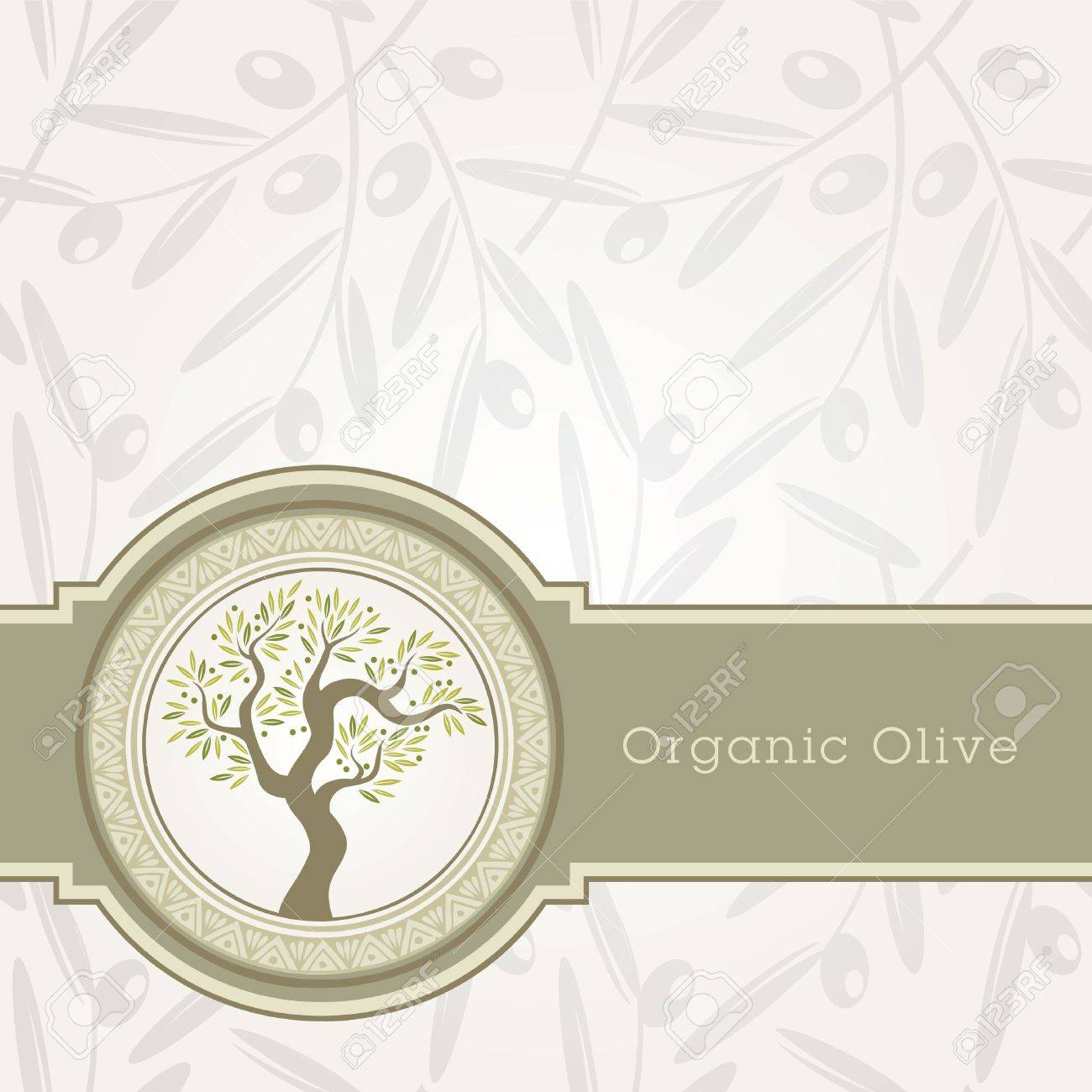 Olive oil label template - 10438794