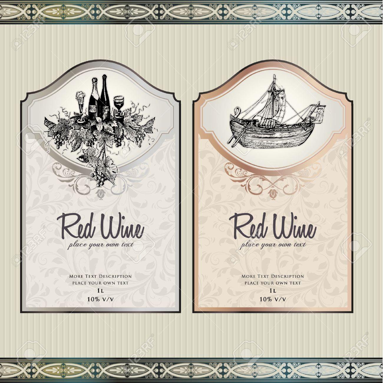 Set of wine labels - 10505625