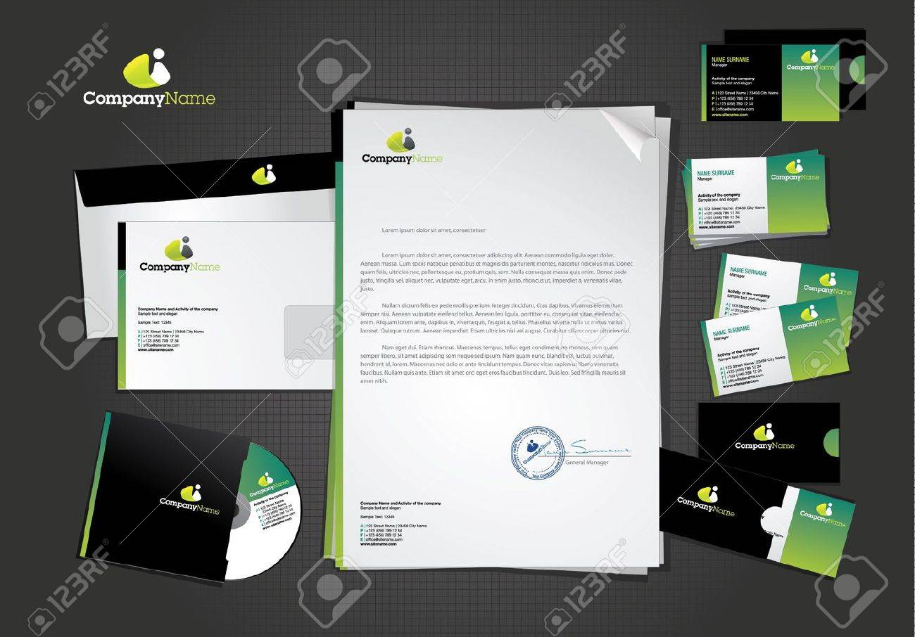 Stationary and icon design template - 10564212