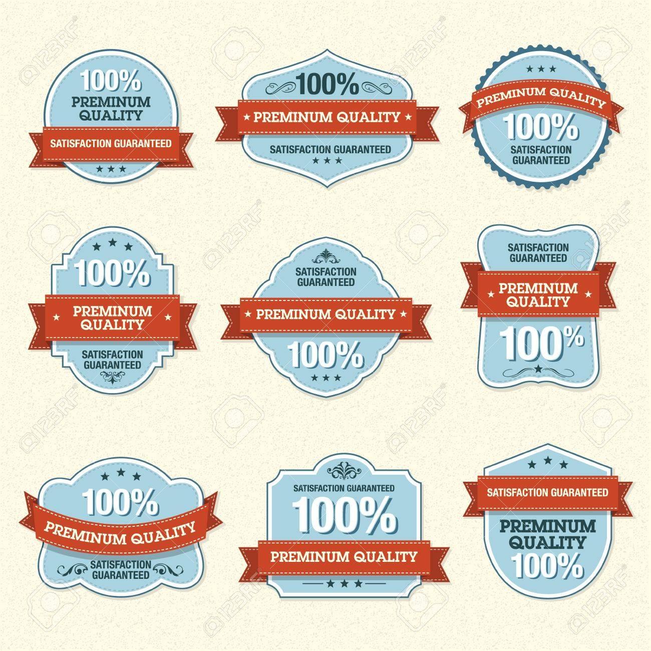Set of Premium Quality Labels - 10930653