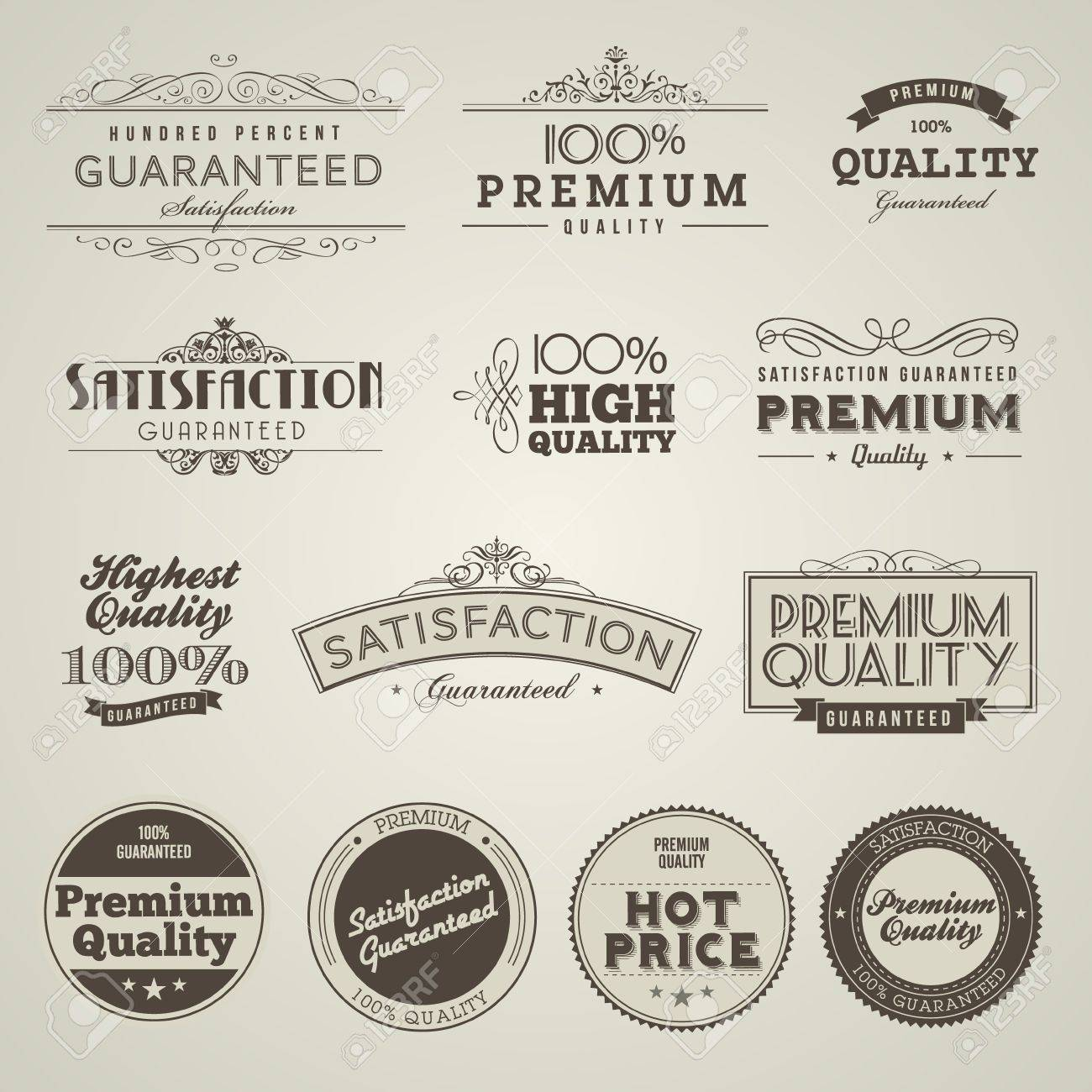 Vintage Styled Premium Quality labels - 11814284