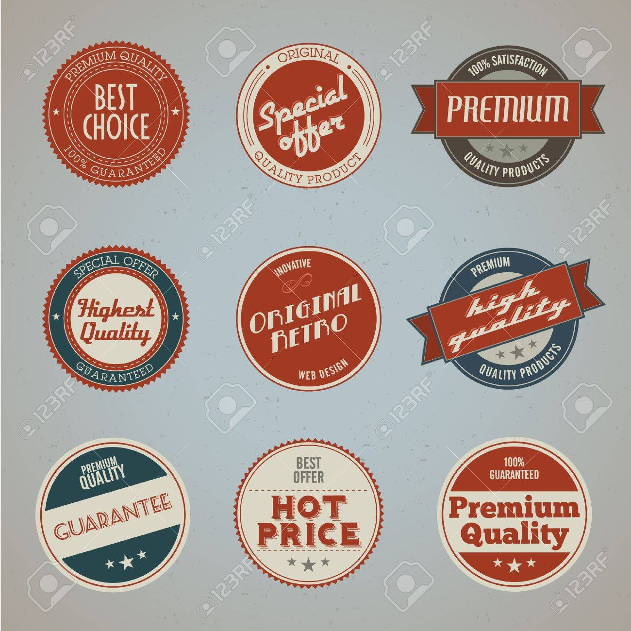 Set of vintage styled premium quality labels - 11814285