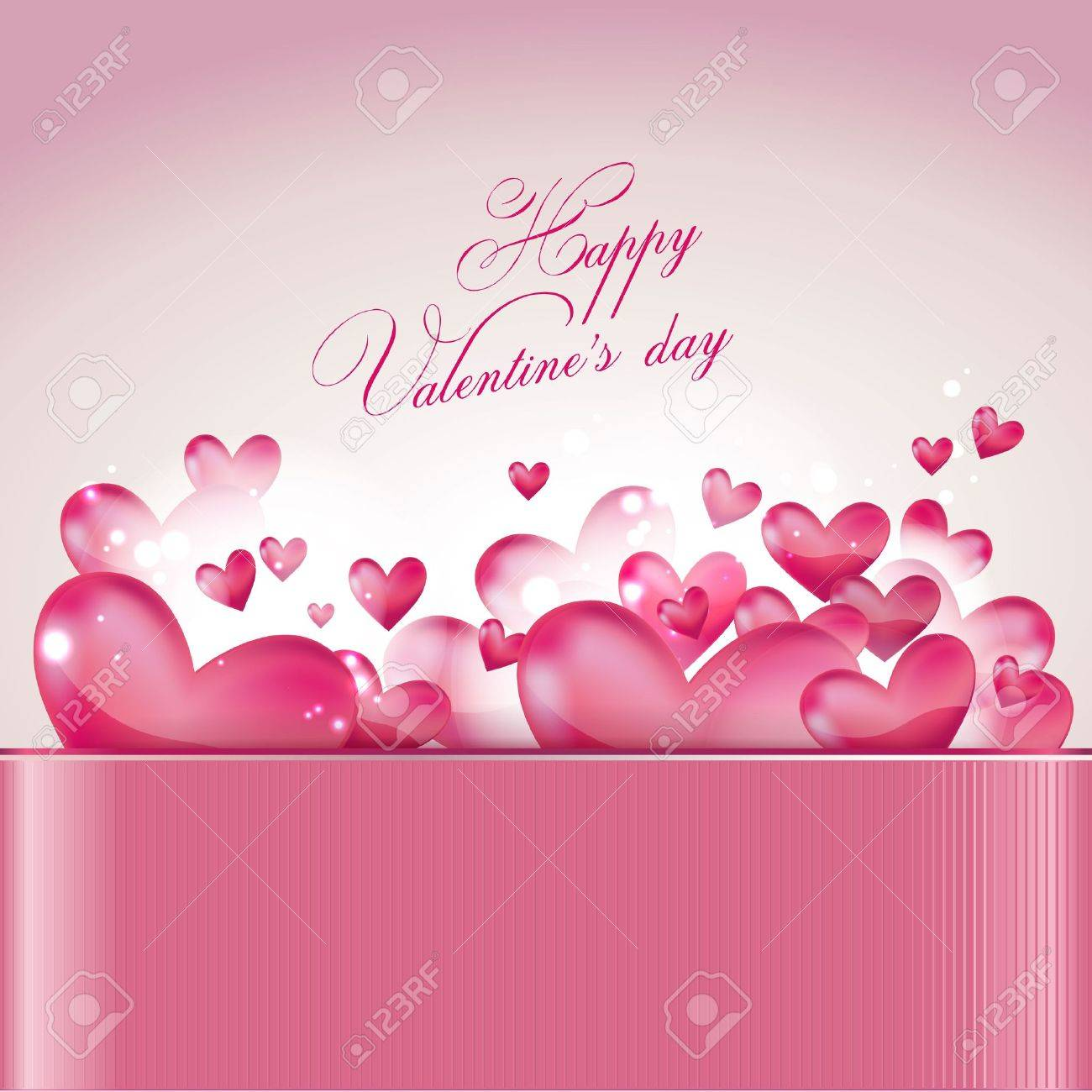 Valentine's day greeting card Stock Vector - 11997835