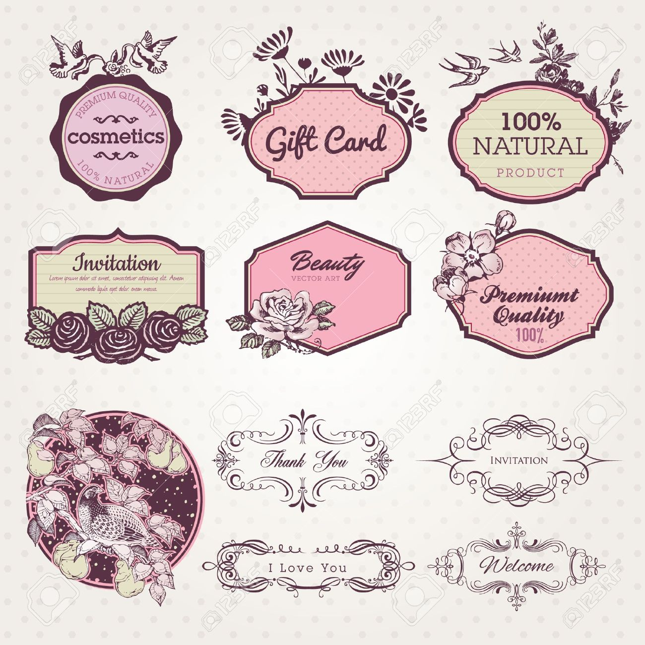 Set of labels and elements Stock Vector - 13128686