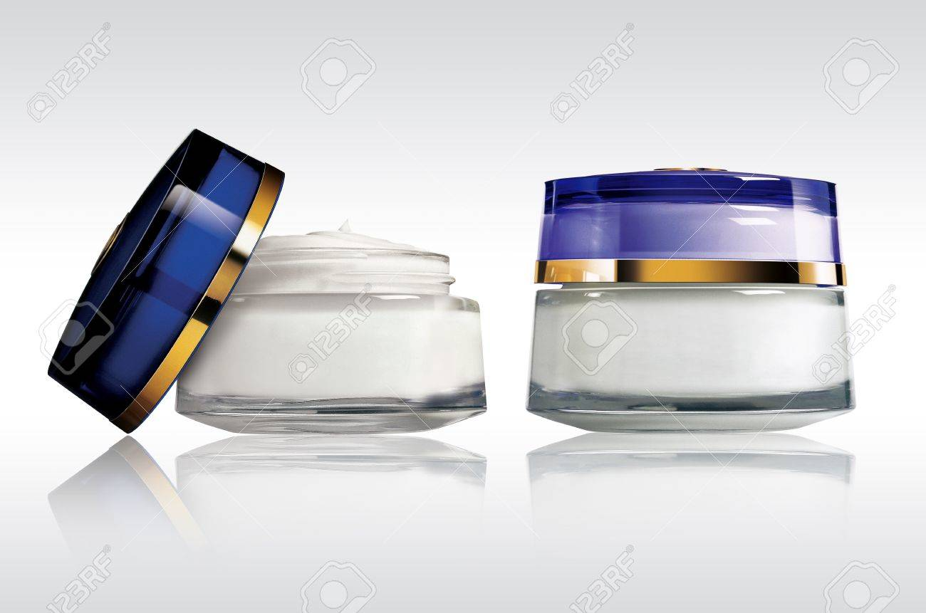 Cosmetics - blank crem packaging isolated - 14006846