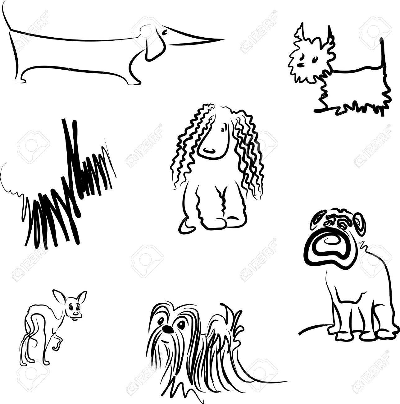 Set of dog breeds Stock Vector - 6338182