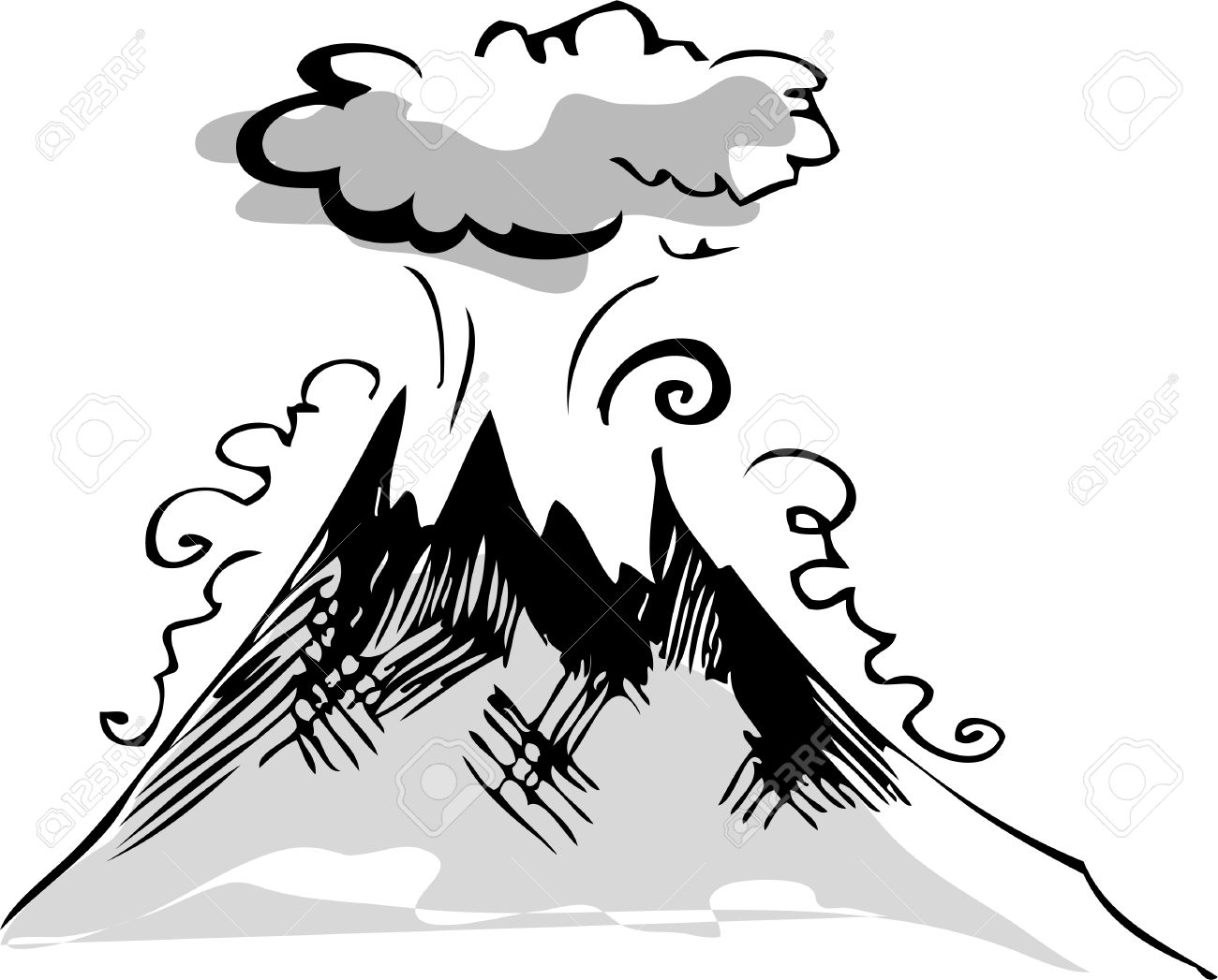 Volcano Stock Vector - 7910054