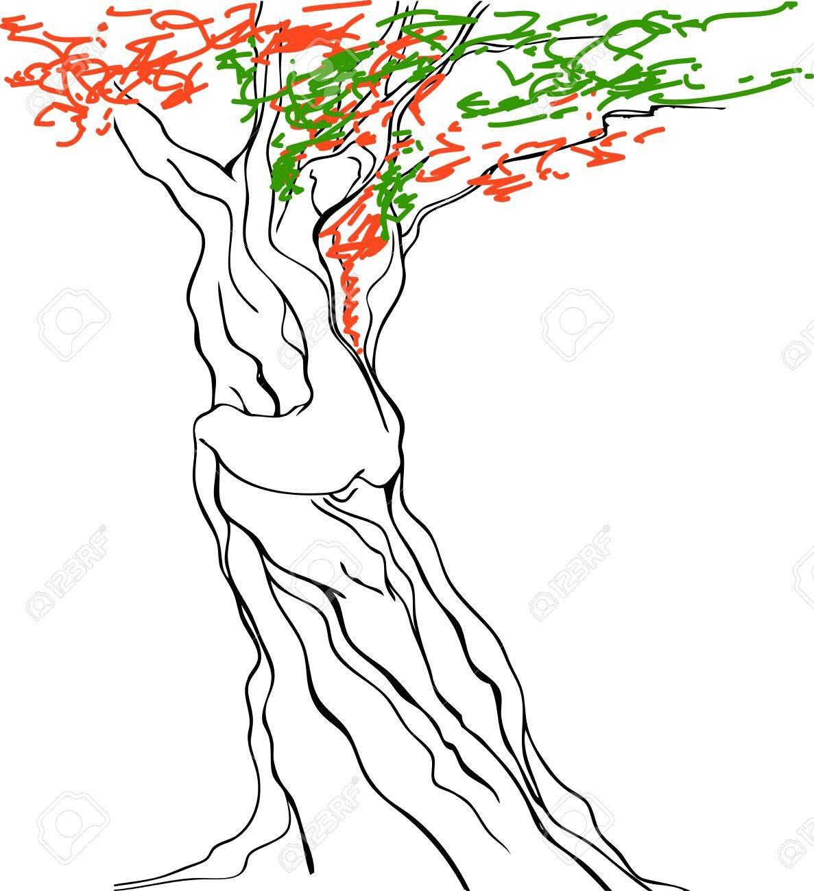 Erotic tree Stock Vector - 15570581
