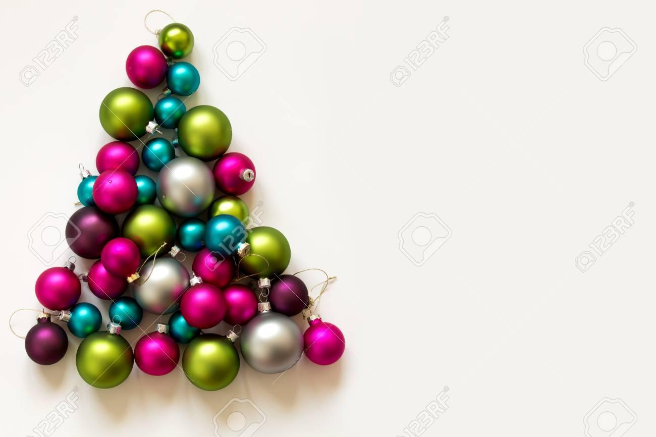 Blue, Green, Silver And Pink Christmas Bulbs Christmas Decoration ...