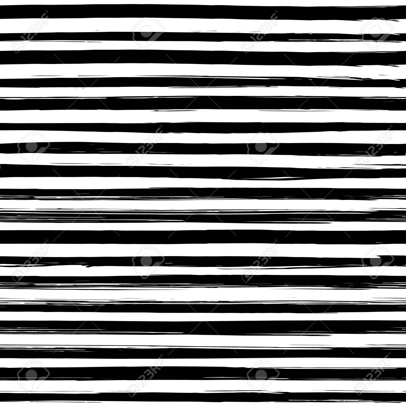 Seamless Pattern With Hand Drawn Black And White Stripes Monochrome Royalty Free Cliparts Vectors And Stock Illustration Image 74494720