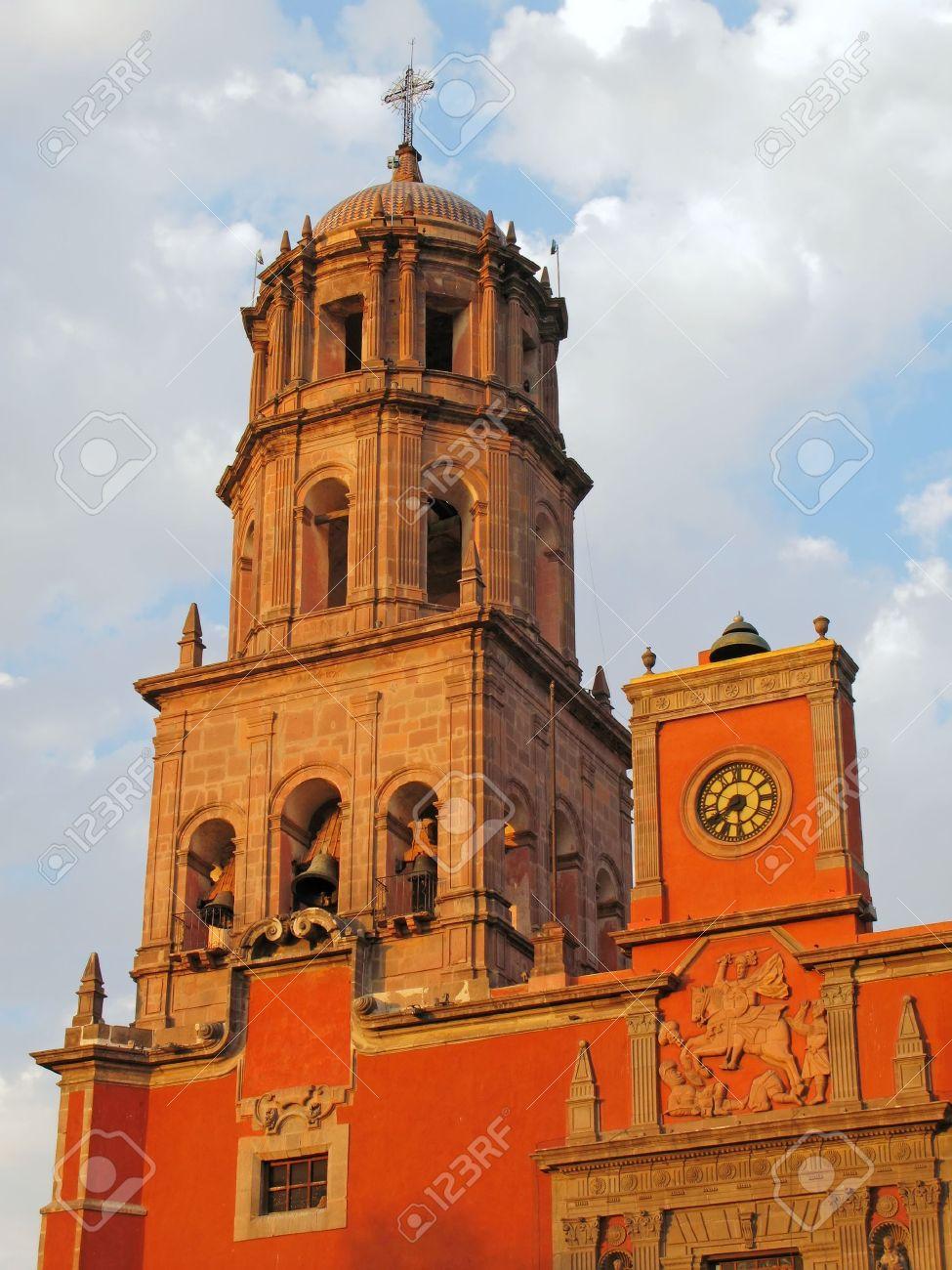 Historic Church Of San Francisco In The Colonial City Of Queretaro