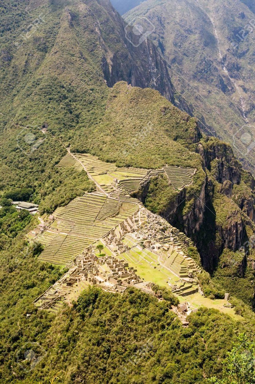 Mountain living near cusco peru royalty free stock photo - Aerial View Of Machu Picchu From Wayna Picchu Near Cusco Peru Stock Photo