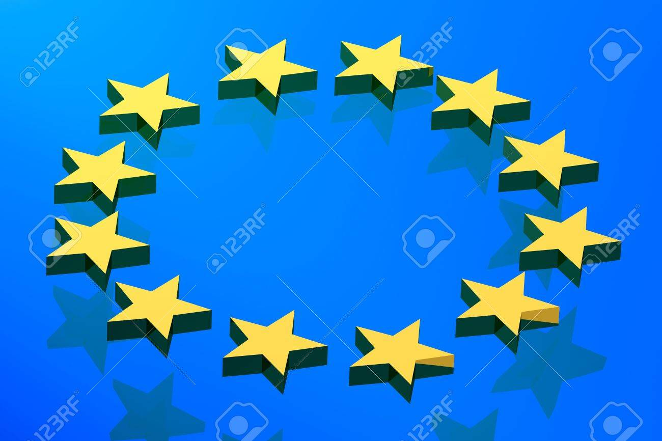 flagge blau gelber stern