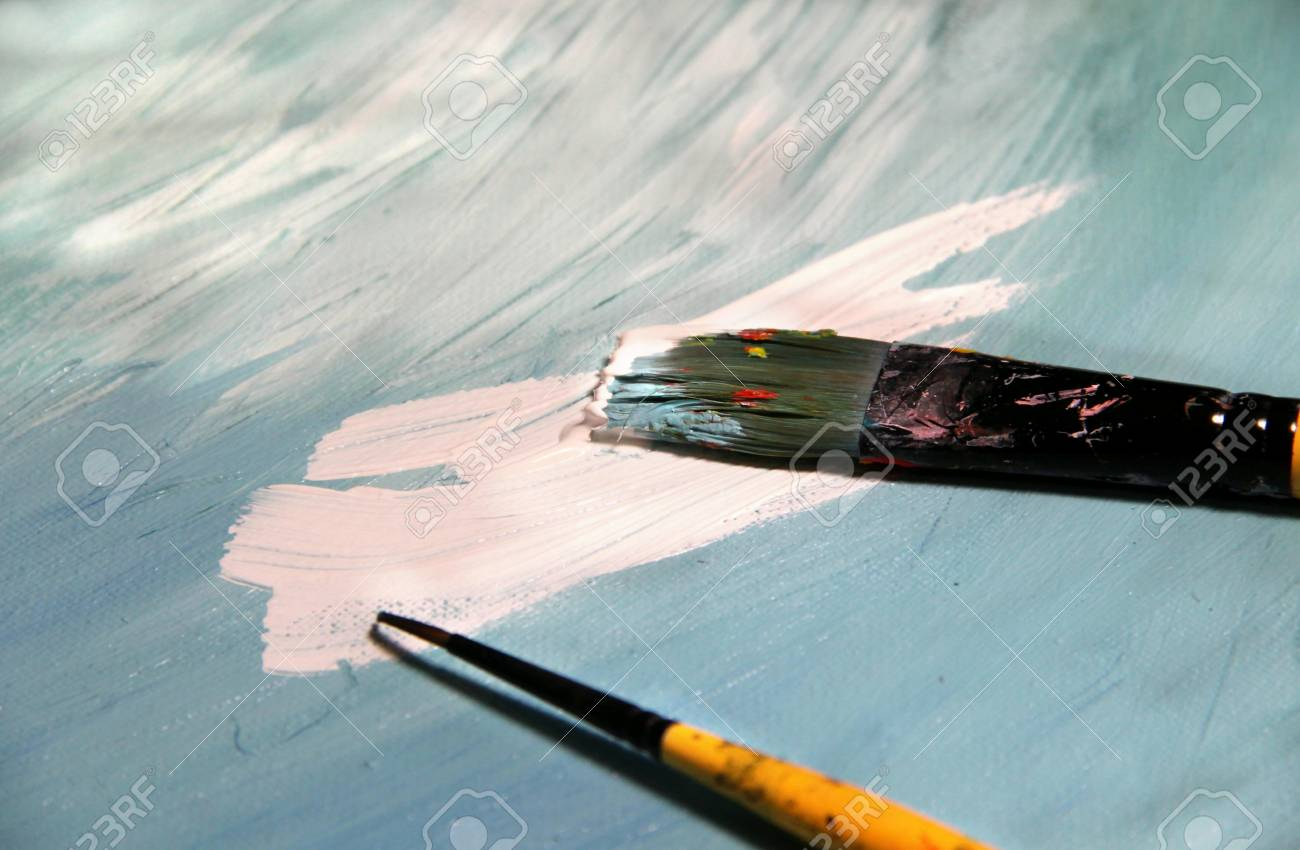 Mixing painting and paintbrushes Stock Photo - 17451991