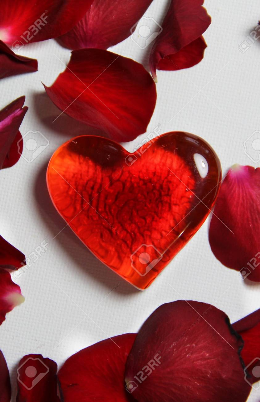 Beautiful Valentine composition of hearts and roses Stock Photo - 17698291