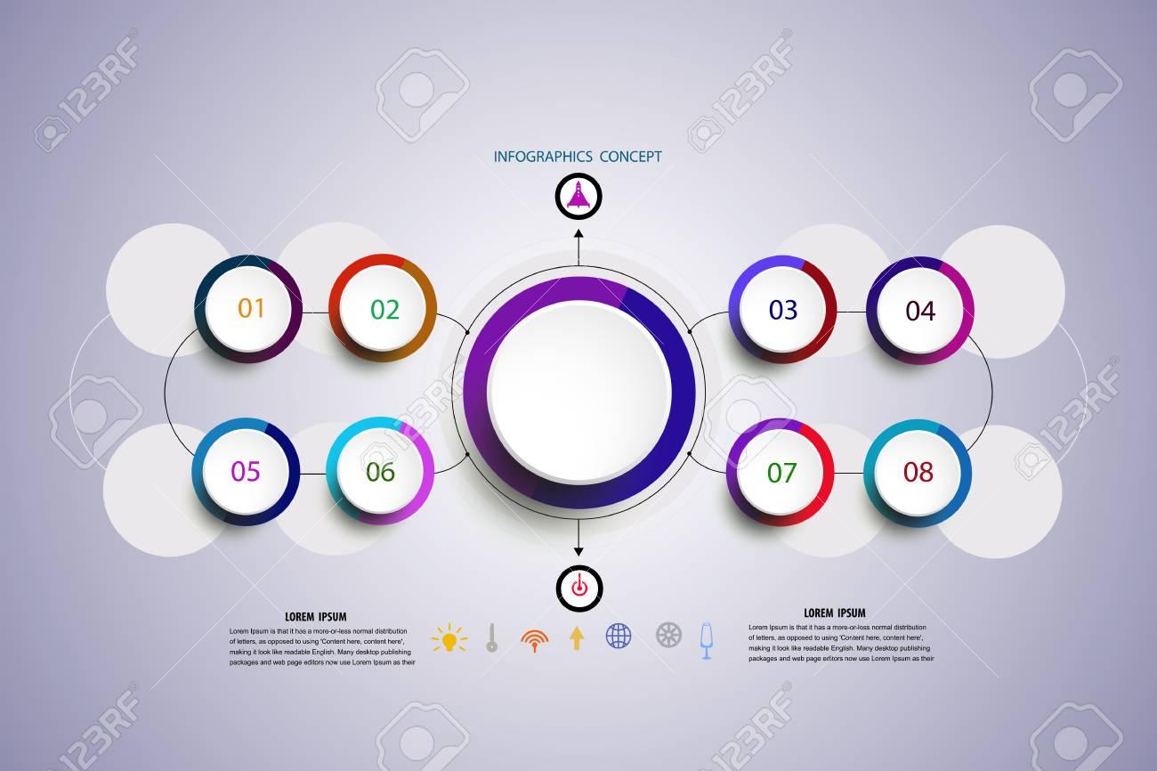 Plantilla De Diseño De Línea De Tiempo De Infografía De Vector Con ...