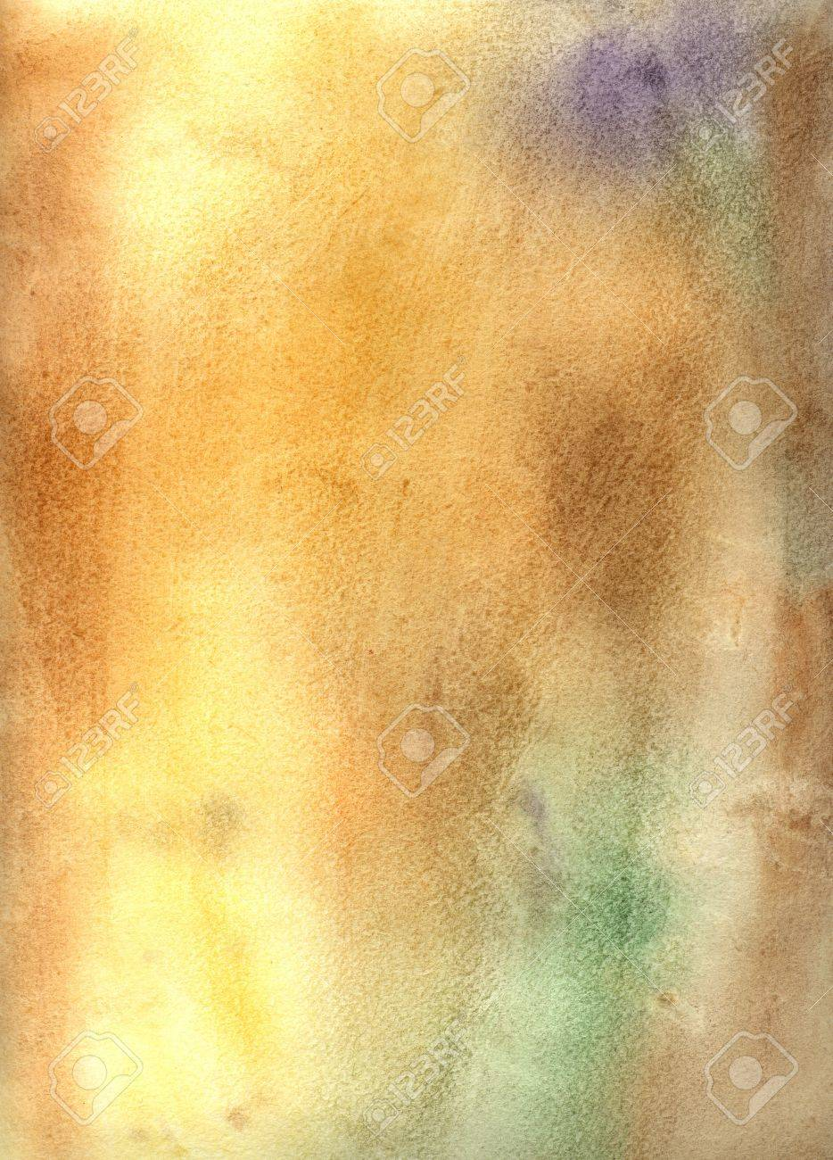 bright watercolor background with shades of brown with spots