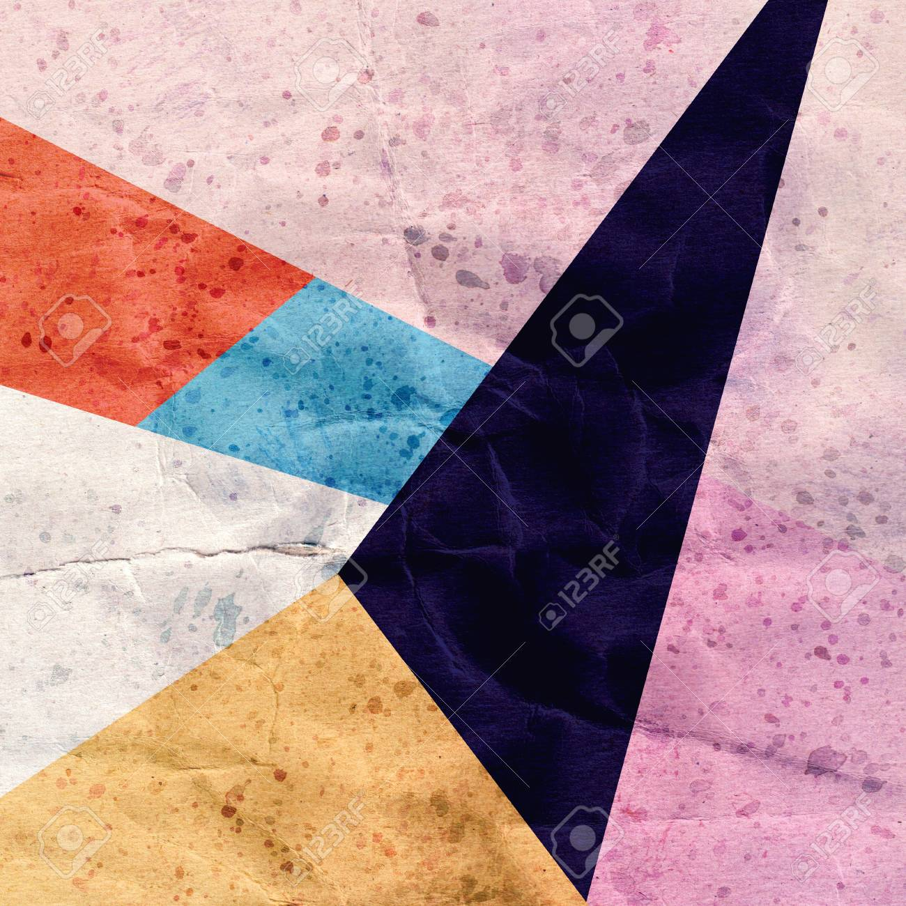 bright colorful abstract background with geometric elements Stock Photo - 19982364