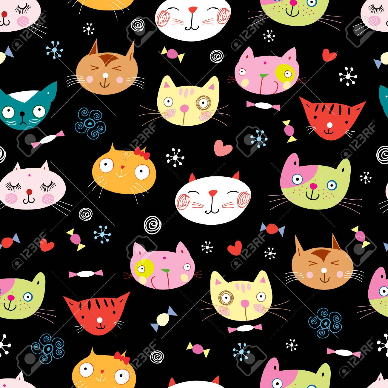 texture of the fun loving cats - 32209418