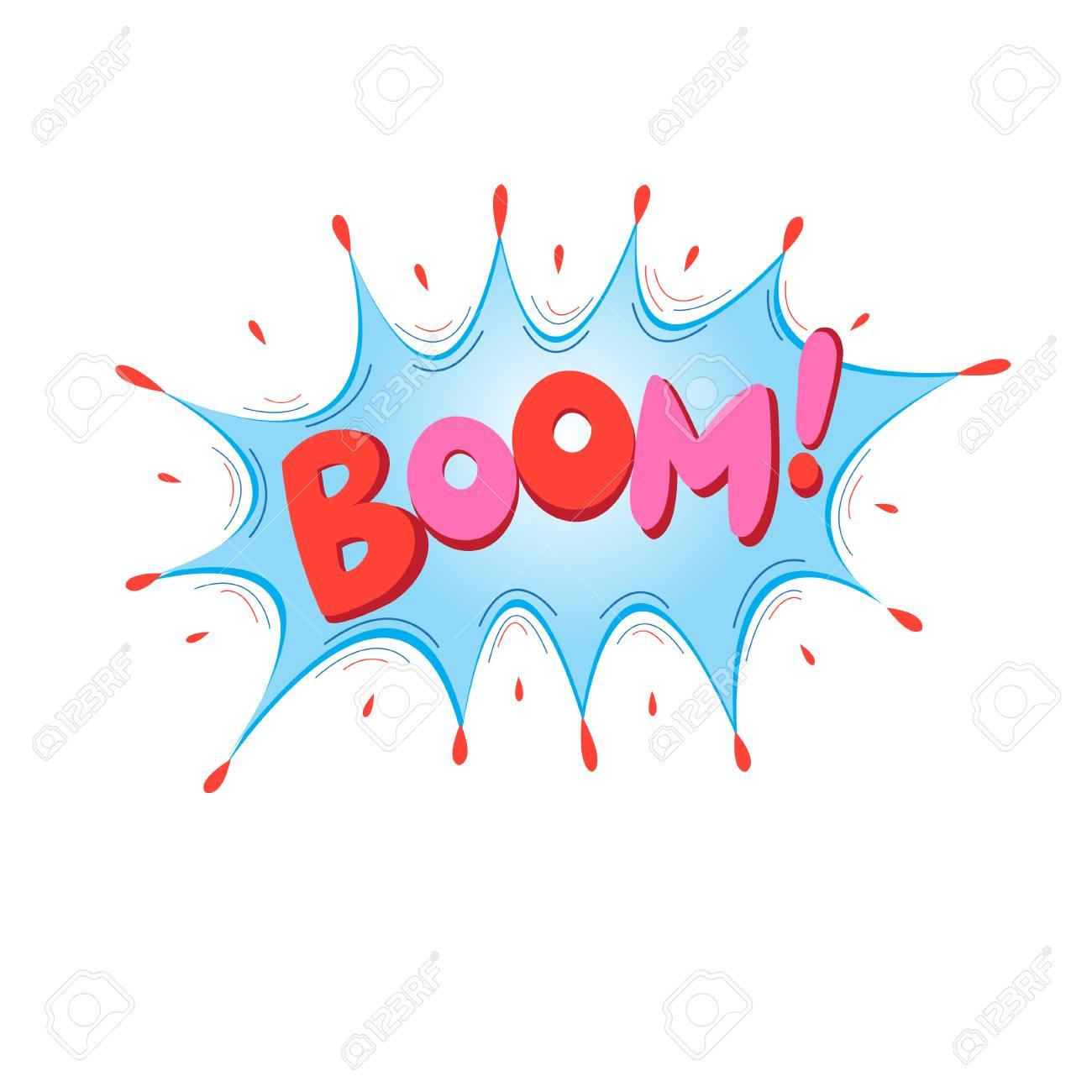 Rotulação Boom Bomba Efeitos Sonoros De Texto Em Quadrinhos Frase De Discurso De Bolha De ícone De Vetor Expressão De Marca De Rótulo De Fonte