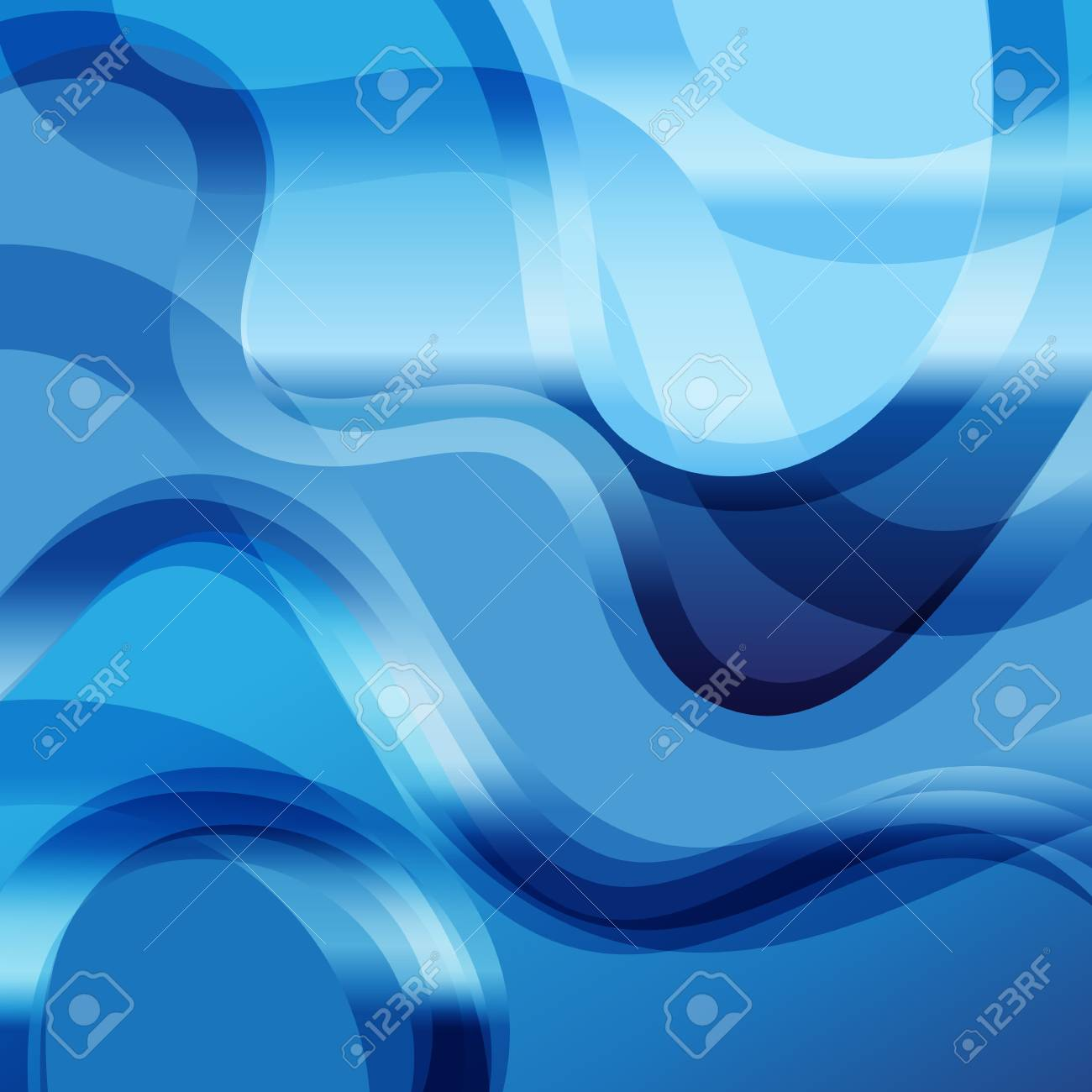 Bright background design blue transparent abstract wave blue - 126082001