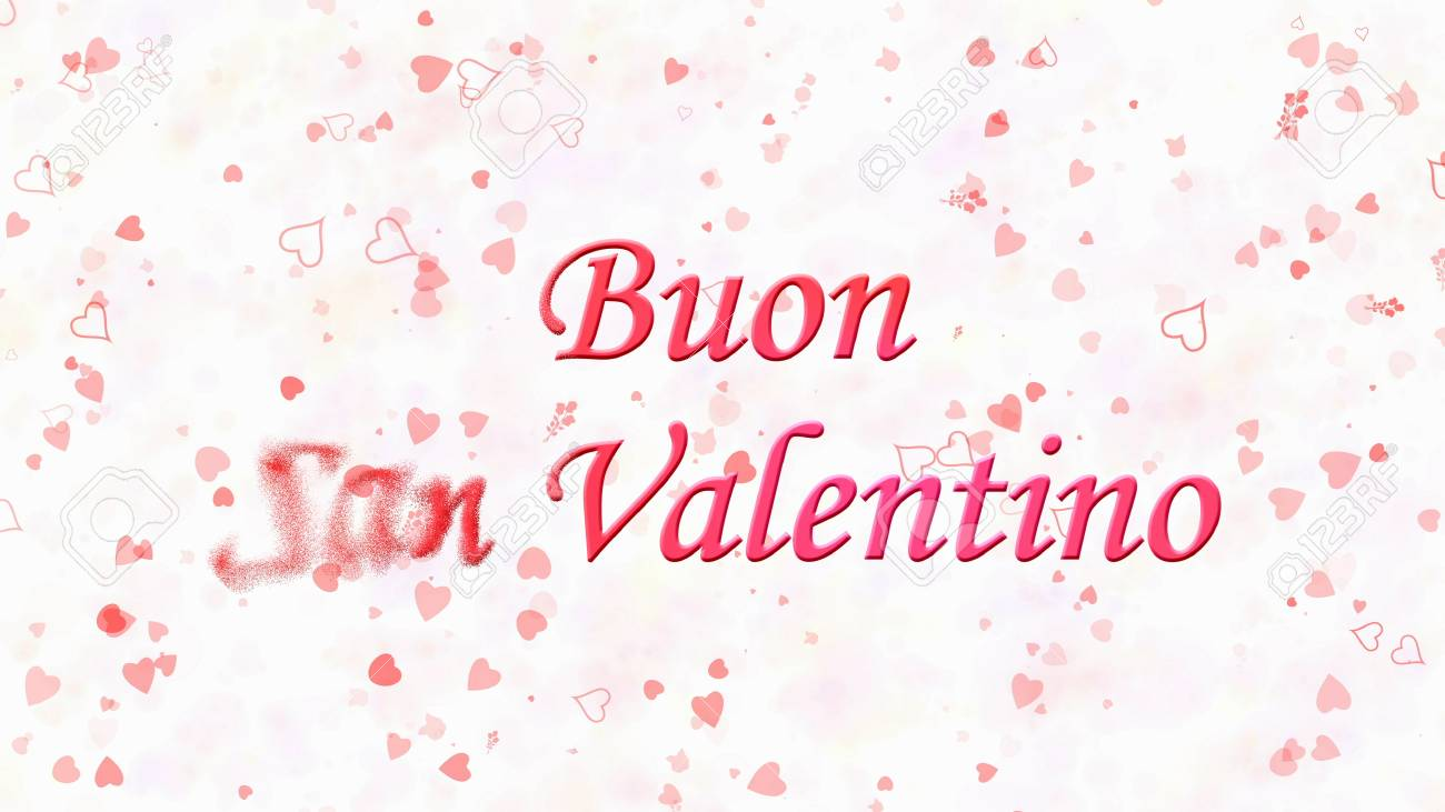 happy valentines day text in italian