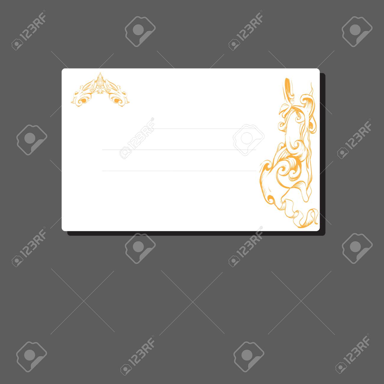 Vector Business Card, Greeting, Frame, Vintage, Vector Template ...