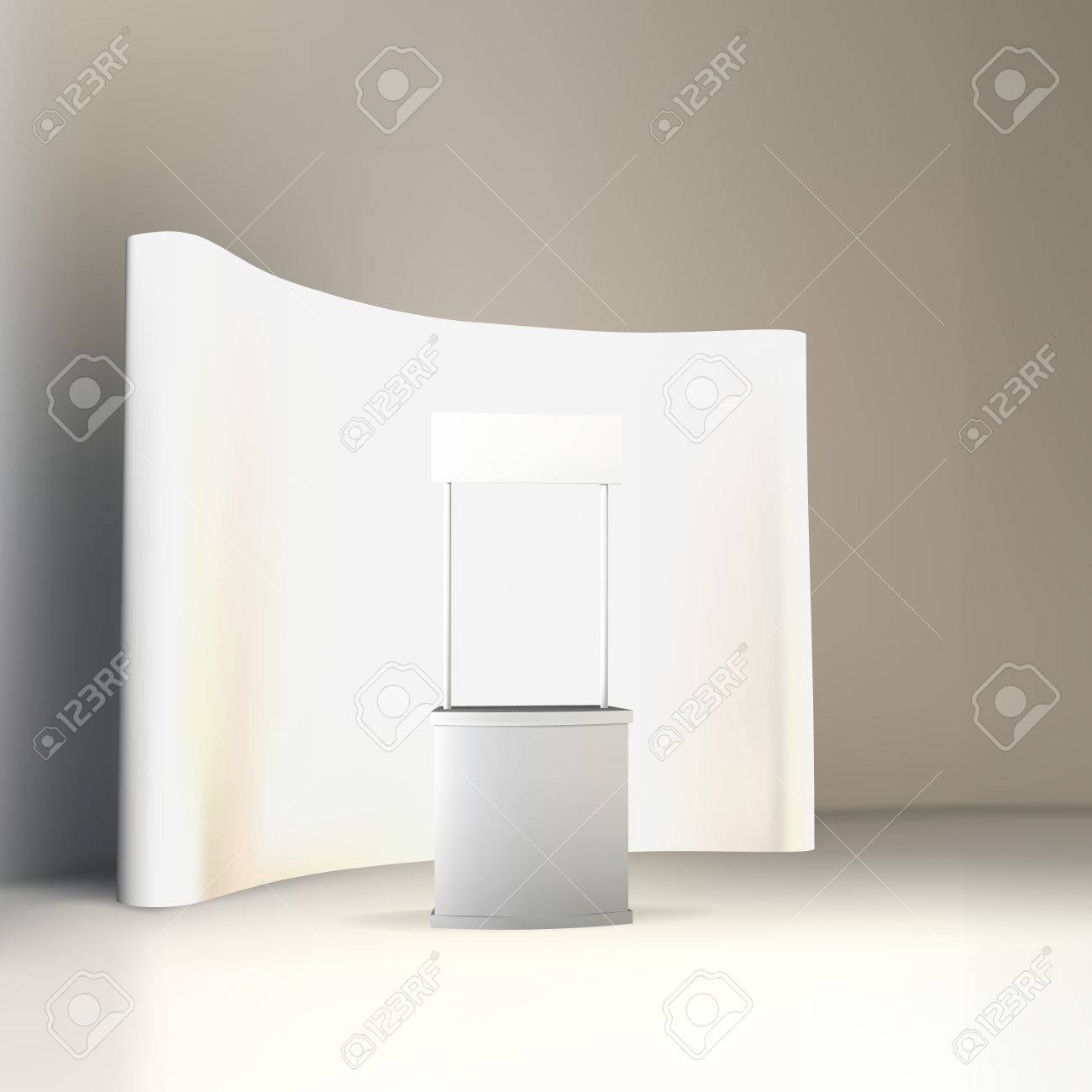 Trade Exhibition Stand Vector : Trade exhibition stand vector isolated royalty free cliparts