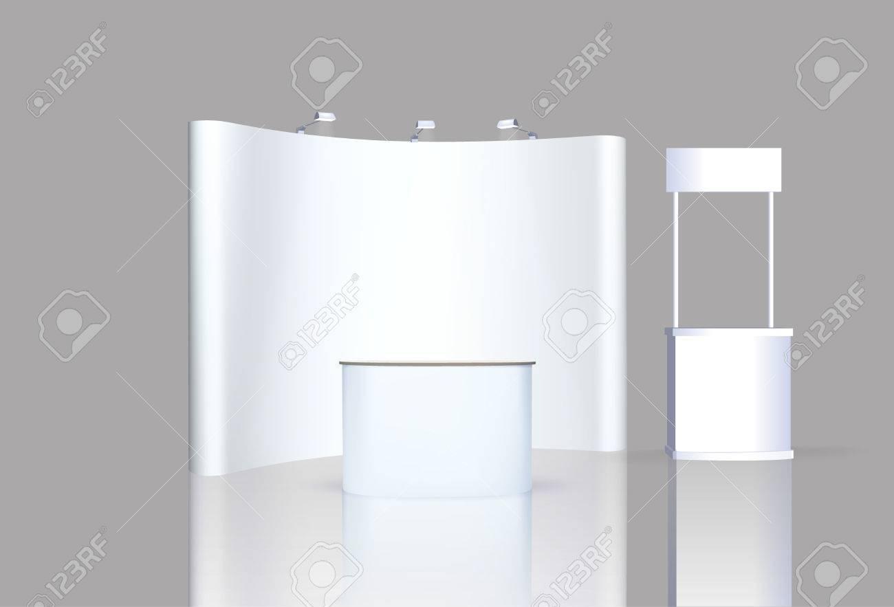 Trade Exhibition Stand Vector : Trade exhibition stand exhibition stand round d rendering
