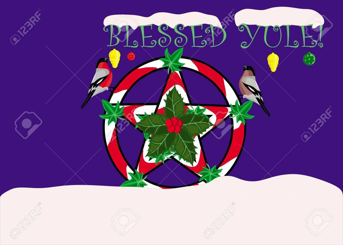 Yule greeting card Stock Vector - 15056758